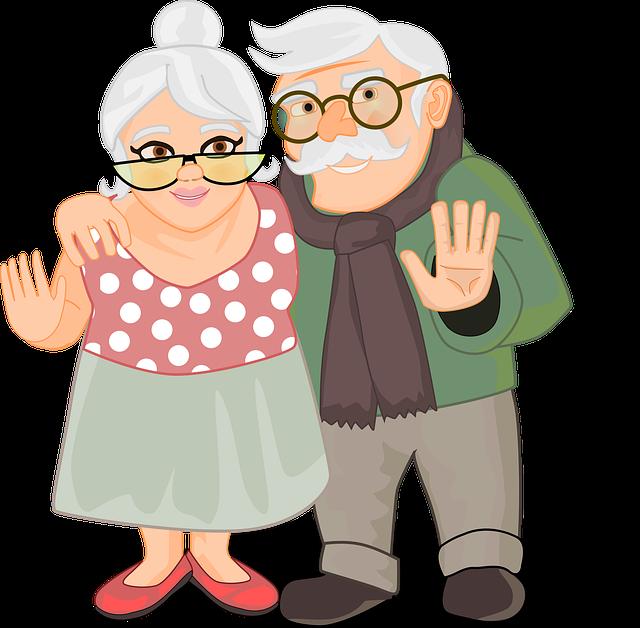 ilustracja babcia i dziadek