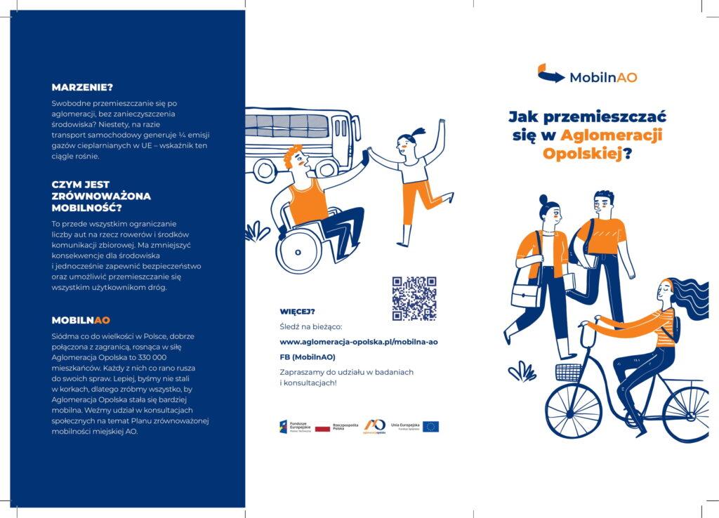 Zrównoważona mobilność ro ograniczenie liczby aut na rzecz rowerów i środków komunikacji zbiorowej.